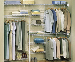 The Closet Factory customizes the shelving configurations to best suit your closet space.
