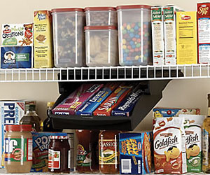 Optimize your pantry space with The Closet Factory to make your items more accessible.
